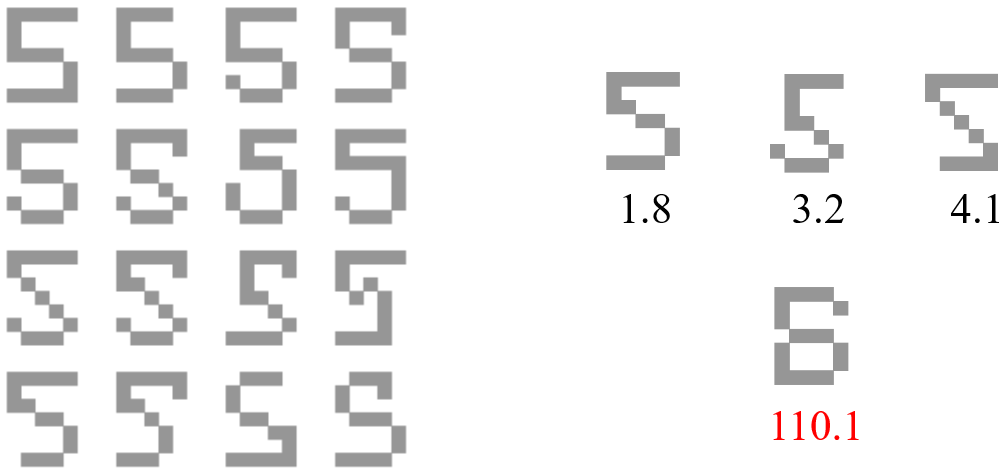 文字認識の例