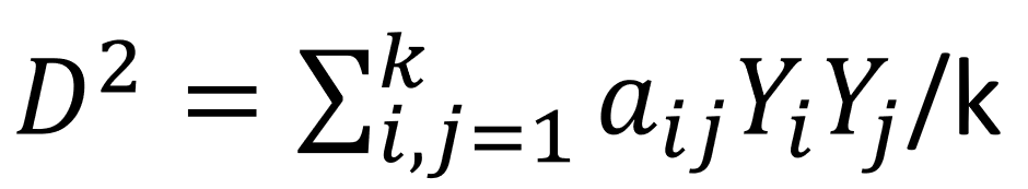 マハラノビス距離計算式